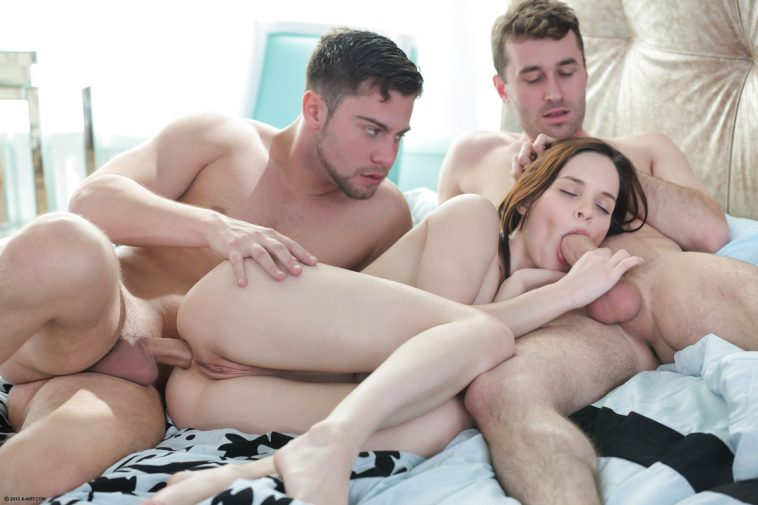 X-Art Jenna in Double Daydream with Seth and James Deen 5