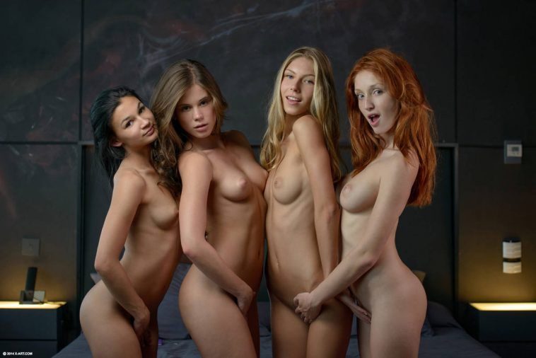 X-Art Caprice, Angelica, The Red Fox & Keira in Fuck Me Four Ways 13