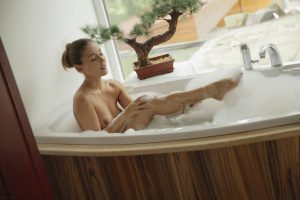 X-Art Ivy in Hot Bath for Two with Sebastian  12