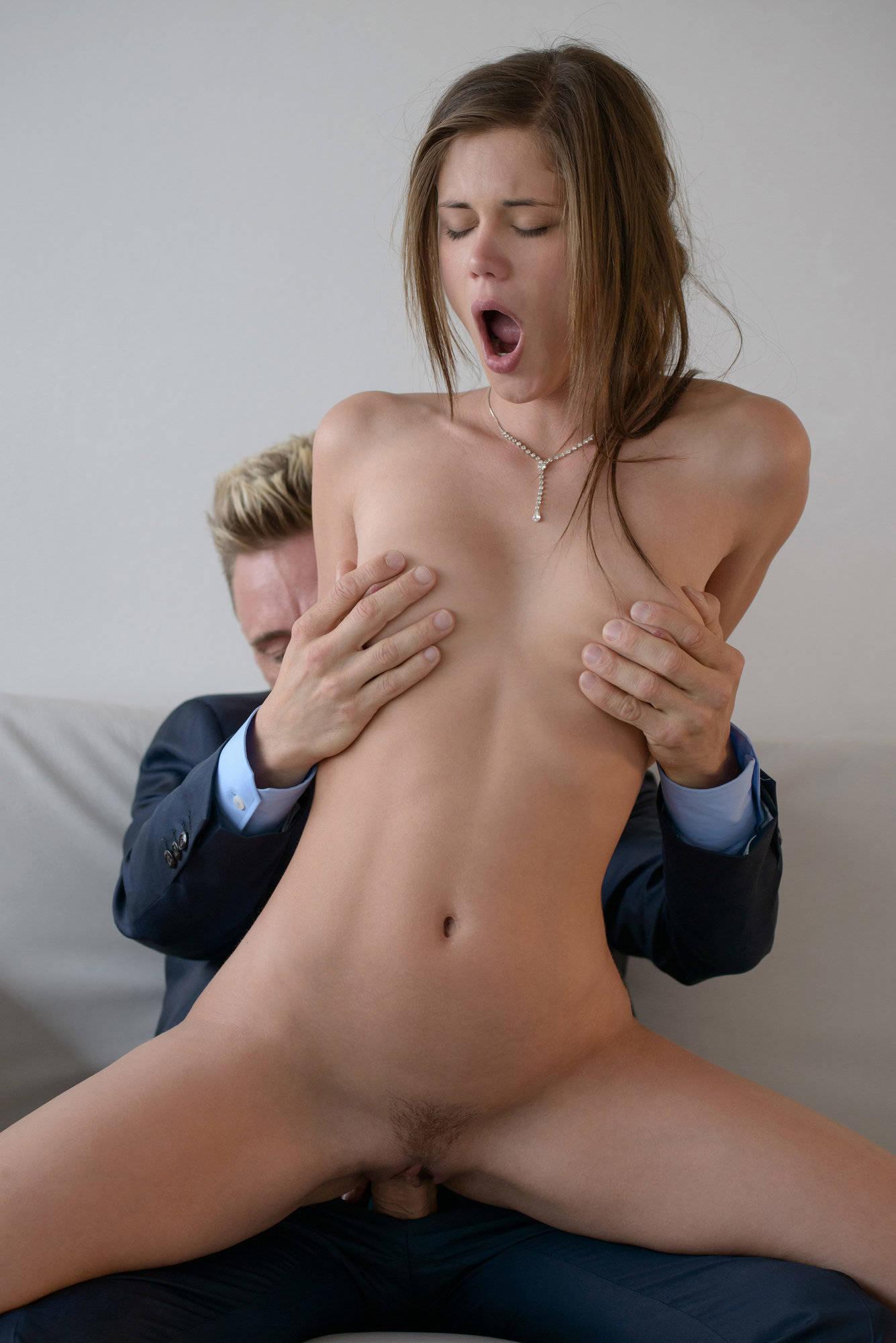 Tania blonde russian milf has missionary sex