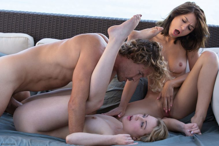Colette Presents Joseline & Cali Sparks in Cum Swap With Me with Mr X 12