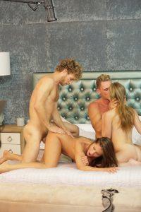 X-Art Caprice & Anya in Caprice Swaps Cocks with Marcello & Michael Vegas 6