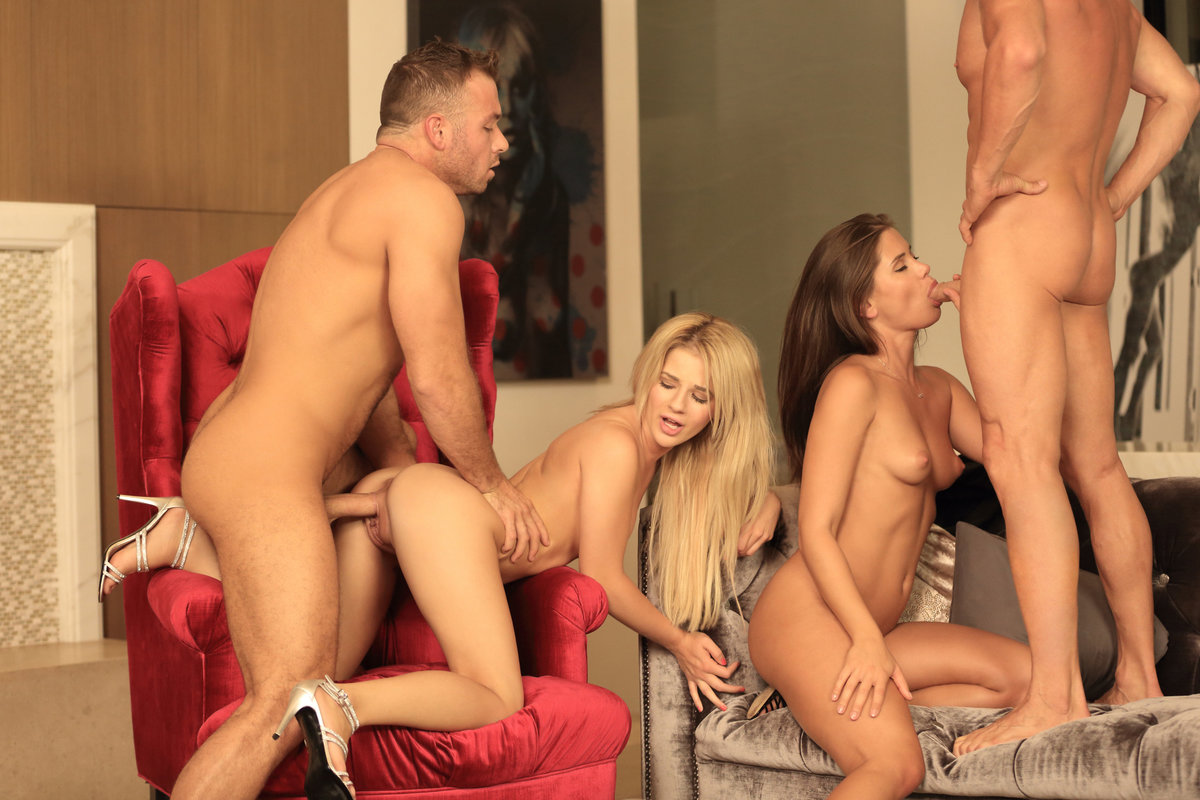 Foursome swingers party kate truu and ginger deepthroat and doggy part1